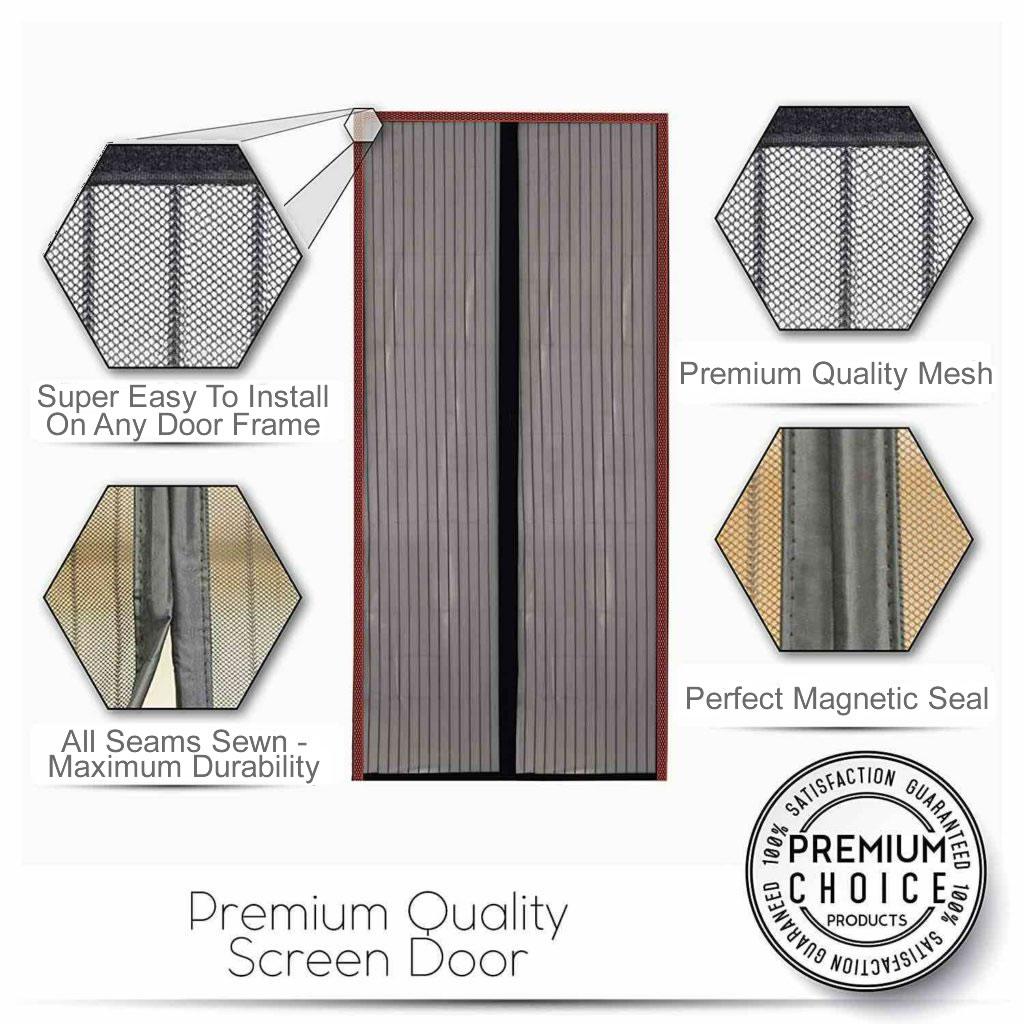 best magnetic flyscreen door curtain
