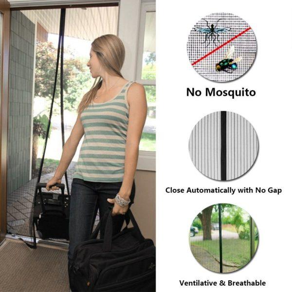 New Magnetic Fly Screen Door Curtain
